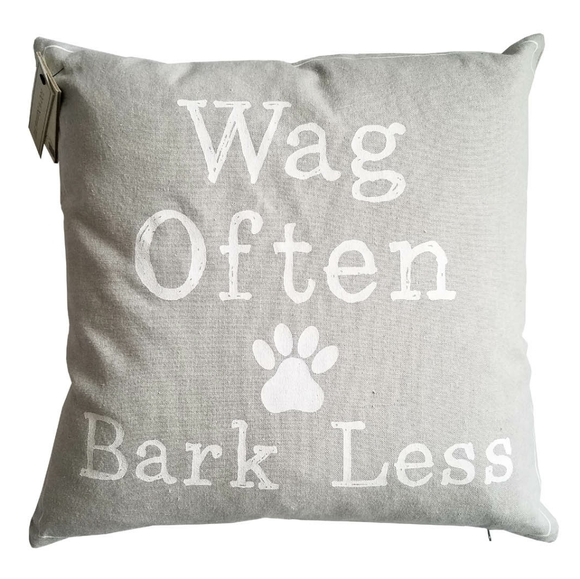 Vintage House Other - 🆕Vintage House Wag Often Bark Less Throw Pillow